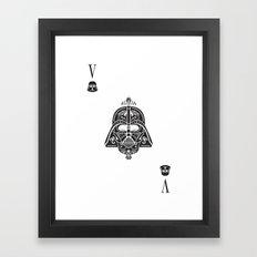 Darth Vader Card Framed Art Print
