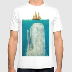 The Whale MEDIUM White Mens Fitted Tee