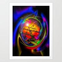 Sea Romantic - Sailing Ship 20 Art Print