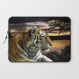 Sunset Tiger Laptop Sleeve