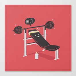 But he's always at the gym... Canvas Print