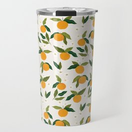 Gouache Oranges Travel Mug