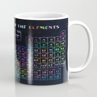 periodic table Mugs featuring periodic table of elements by Bekim ART