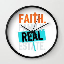 Faith family realestate (2) Wall Clock