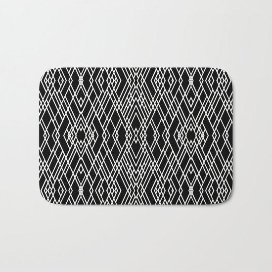 Art Deco Black and White Bath Mat