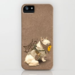 Doggy Vigilante // Django the French Bulldog iPhone Case