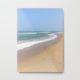 Pastel Blue Shores - An Bang Beach, Vietnam Metal Print