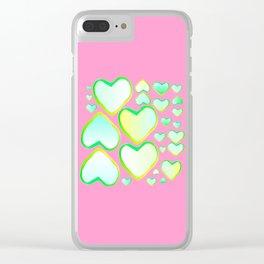 Coeur de printemps Clear iPhone Case