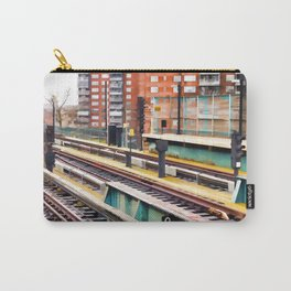 Subway platform at Bay 50 street Carry-All Pouch