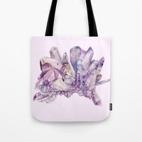 crystals Tote Bags featuring Crystals by my first palette