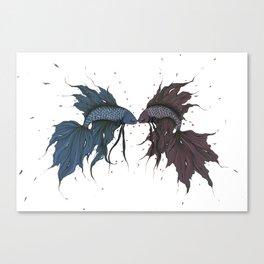 Fighting Fish Canvas Print