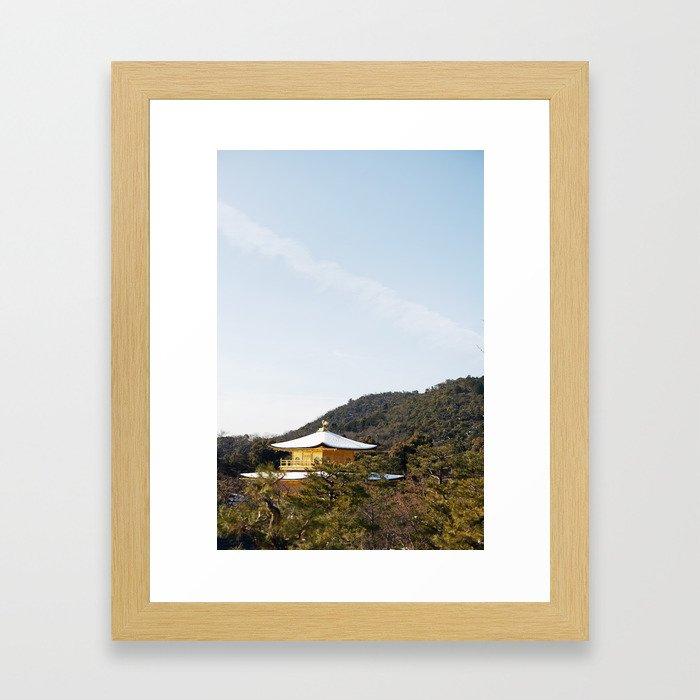 Kyoto Gold Framed Art Print