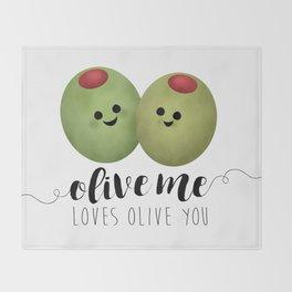 Olive Me Loves Olive You Throw Blanket