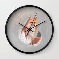 wonderland Wall Clocks featuring Wonderland by Dominikaa
