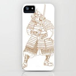 Bushi Samurai Warrior Drawing iPhone Case