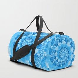 Endless Ocean Blue Spiral Duffle Bag