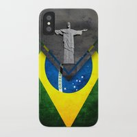 brazil iPhone & iPod Cases featuring Flags - Brazil by Ale Ibanez