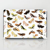shoes iPad Cases featuring Shoes by Jeanne Bornet
