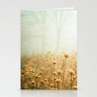 woods Stationery Cards featuring Daybreak in the Meadow by Olivia Joy StClaire