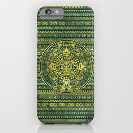 Gold  Aztec Inca Mayan Calendar iPhone Case