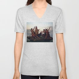 The Abduction of Boone's Daughter by the Indians Unisex V-Neck
