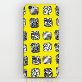 yellow zen cubes  iPhone Skin