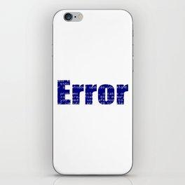 Error Blue Screen Glitch Text iPhone Skin