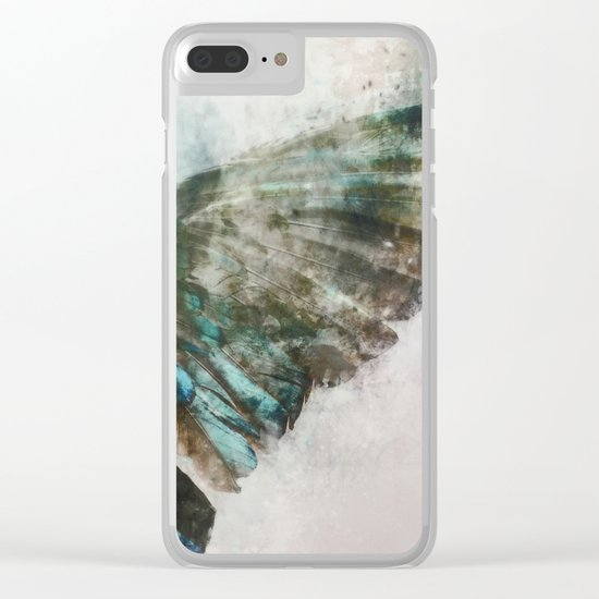 An angel lost its wing Clear iPhone Case