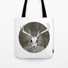 Stag Skull Tote Bag