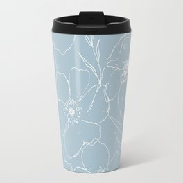 Floral Simplicity - Blue Travel Mug