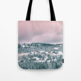 Blush Sky in Woodland Heights Tote Bag