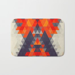 Abstract Triangle Mountain Bath Mat