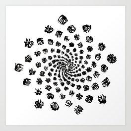 Fibonacci pattern Art Print