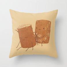 Loggy Modification Throw Pillow