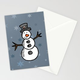 Cute snowman Stationery Cards