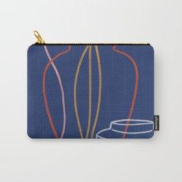 Indigo Pots 02 Modernist Still Life Print Carry-All Pouch