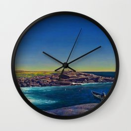Classical Masterpiece 'Maine Lobsterman' by Rockwell Kent Wall Clock