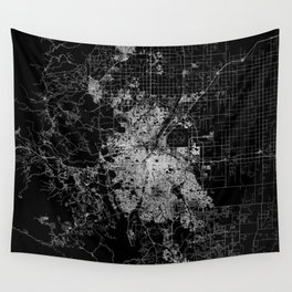 Denver map Wall Tapestry