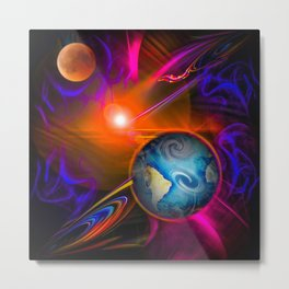 Full moon - Fascination Blood moon - Abstract Metal Print