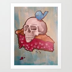 Death by Pie Art Print