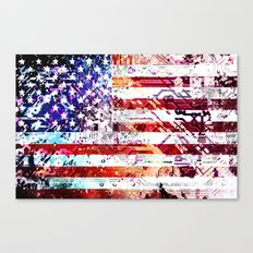 circuit board panel USA Canvas Print