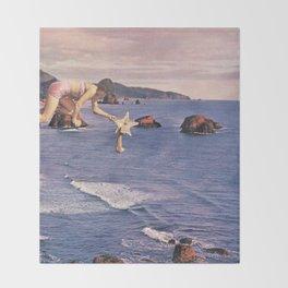 Starfishing Throw Blanket