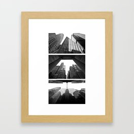 New York Triptik Framed Art Print