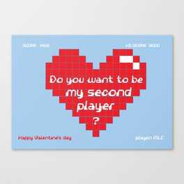 Love for Gamers Canvas Print