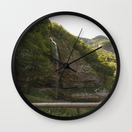 A small waterfall in the mountains #2 Wall Clock
