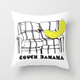 Couch Banana Throw Pillow