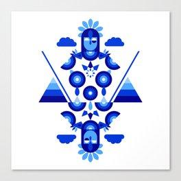 Libra in Blue Canvas Print