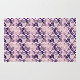 Pink & Purple Quatrfoil Rug