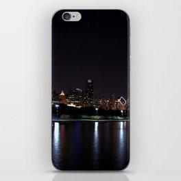 Chicago night skyline with fireworks, Usa. iPhone Skin