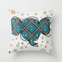 ellie goulding Throw Pillows featuring Ellie by Bunhugger Design